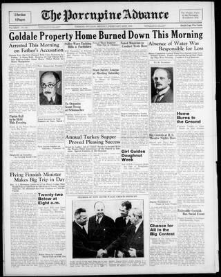 Porcupine Advance, 20 Feb 1939