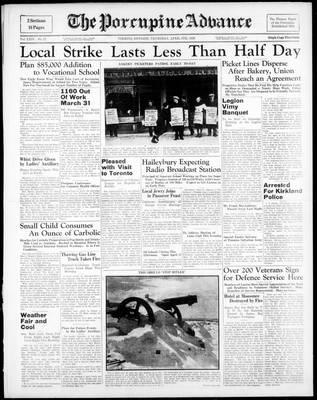 Porcupine Advance, 6 Apr 1939