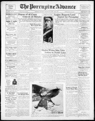 Porcupine Advance, 13 Apr 1939