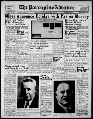 Porcupine Advance, 18 May 1939