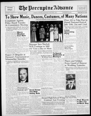 Porcupine Advance, 29 Jun 1939