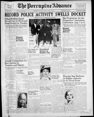 Porcupine Advance, 31 Jul 1939