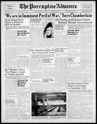 Porcupine Advance, 24 Aug 1939