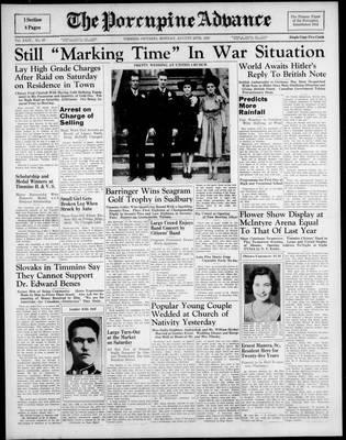 Porcupine Advance, 28 Aug 1939