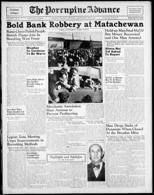 Porcupine Advance, 14 Sep 1939