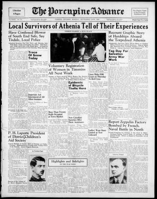 Porcupine Advance, 25 Sep 1939