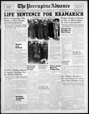 Porcupine Advance, 5 Oct 1939