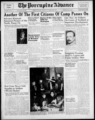 Porcupine Advance, 23 Oct 1939