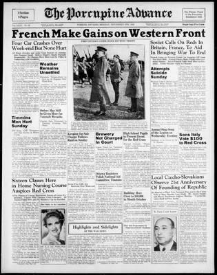 Porcupine Advance, 6 Nov 1939