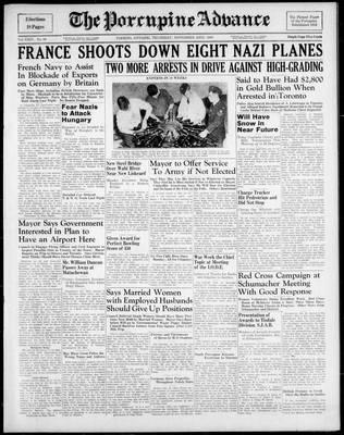 Porcupine Advance, 23 Nov 1939