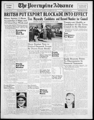 Porcupine Advance, 27 Nov 1939