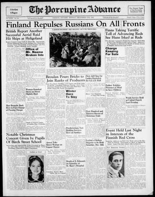 Porcupine Advance, 4 Dec 1939