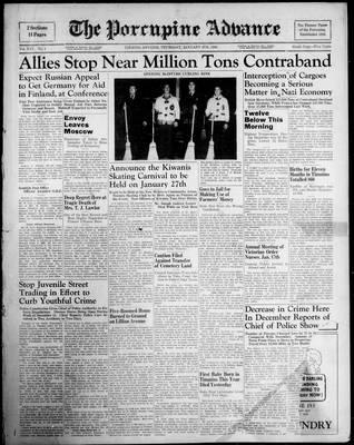 Porcupine Advance, 4 Jan 1940