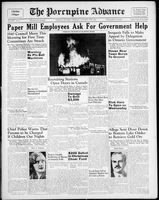 Porcupine Advance, 8 Jan 1940