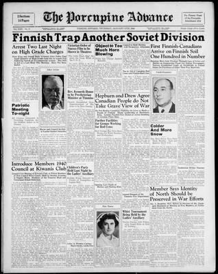 Porcupine Advance, 11 Jan 1940