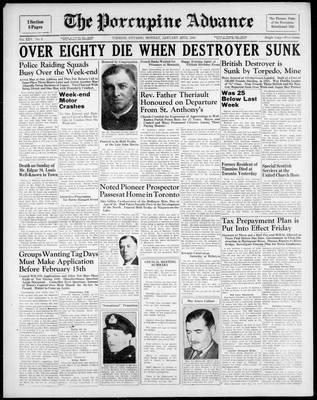 Porcupine Advance, 22 Jan 1940