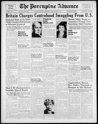 Porcupine Advance, 25 Jan 1940