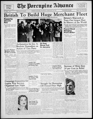 Porcupine Advance, 1 Feb 1940