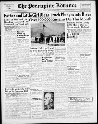 Porcupine Advance, 26 Feb 1940