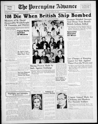 Porcupine Advance, 4 Mar 1940