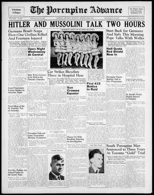 Porcupine Advance, 18 Mar 1940