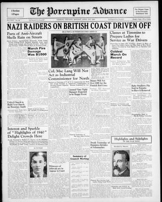 Porcupine Advance, 1 Apr 1940