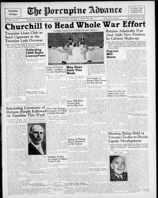 Porcupine Advance, 4 Apr 1940
