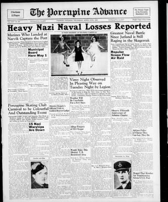 Porcupine Advance, 11 Apr 1940