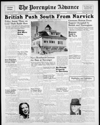 Porcupine Advance, 18 Apr 1940