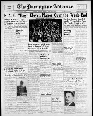 Porcupine Advance, 22 Apr 1940
