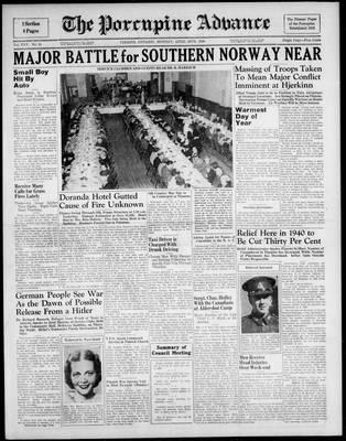 Porcupine Advance, 29 Apr 1940