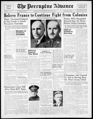 Porcupine Advance, 17 Jun 1940