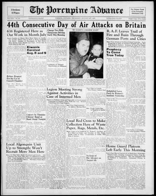 Porcupine Advance, 1 Aug 1940