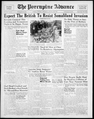 Porcupine Advance, 8 Aug 1940