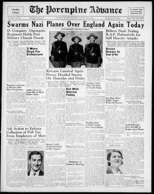 Porcupine Advance, 12 Aug 1940