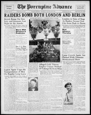 Porcupine Advance, 29 Aug 1940