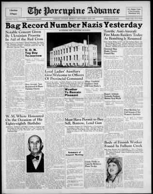 Porcupine Advance, 16 Sep 1940