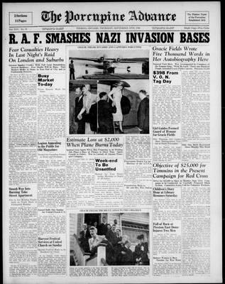 Porcupine Advance, 19 Sep 1940