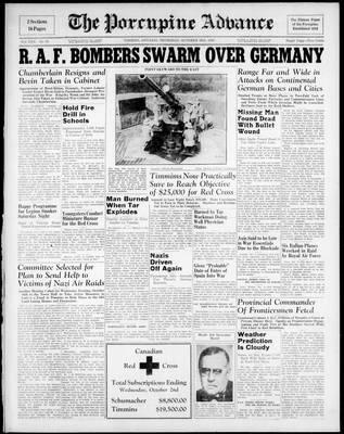 Porcupine Advance, 3 Oct 1940