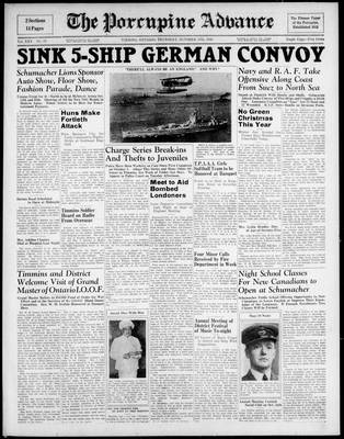 Porcupine Advance, 17 Oct 1940