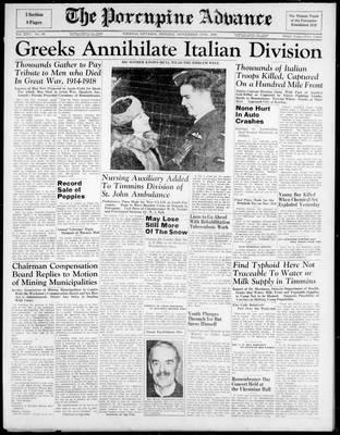 Porcupine Advance, 11 Nov 1940