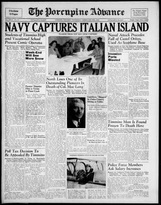 Porcupine Advance, 27 Feb 1941