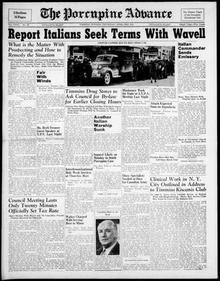 Porcupine Advance, 3 Apr 1941