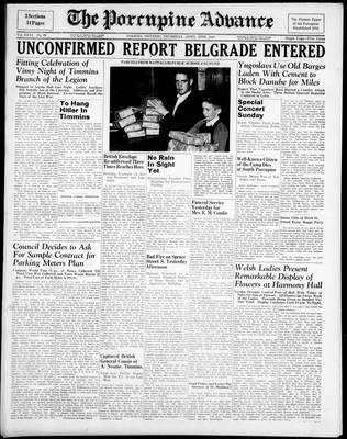 Porcupine Advance, 10 Apr 1941