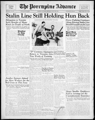 Porcupine Advance, 7 Jul 1941