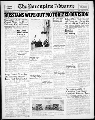 Porcupine Advance, 10 Jul 1941