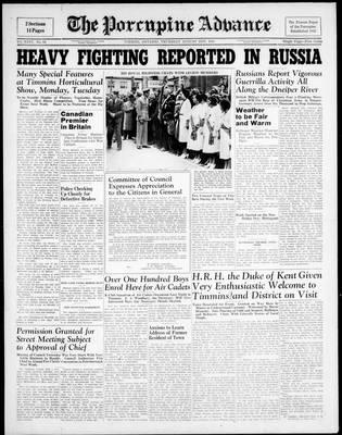 Porcupine Advance, 21 Aug 1941