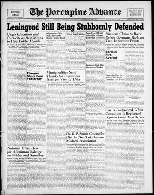 Porcupine Advance, 4 Sep 1941