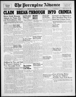 Porcupine Advance, 30 Oct 1941