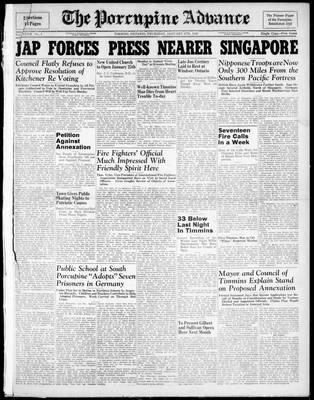 Porcupine Advance, 8 Jan 1942